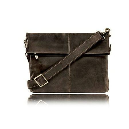 Visconti Genuine Leather Modern Messenger Bag Brown Large Handbag Shoulder Cross Body Hand 18762