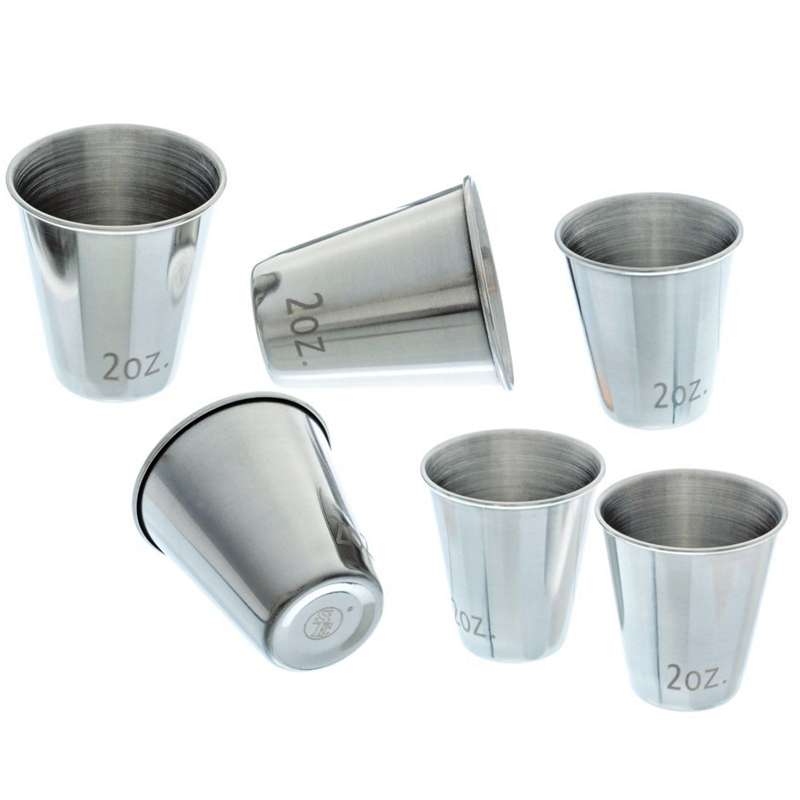 6pc Stainless Steel Shot Glass Set by ASR Outdoor