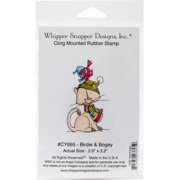 "Whipper Snapper Cling Stamp 4""X6""-Birdie & Bogey"