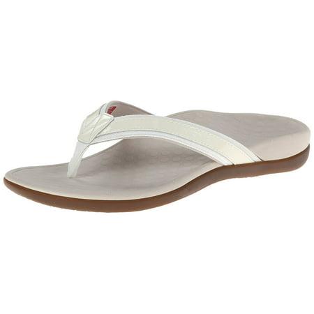 2fcf5034ad28d Vionic - Vionic by Orthaheel Tide II White Leather   Mesh Thong Sandals -  Walmart.com