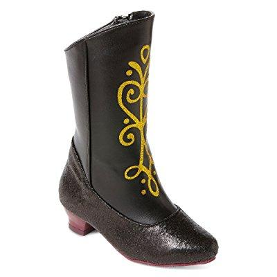 Disney frozen princess anna black and gold costume boots ...