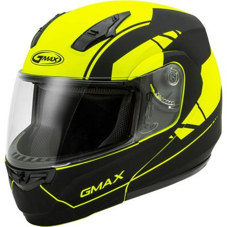 GMAX MD-04 Article Modular Motorcycle Helmet Hi-Vis/Black