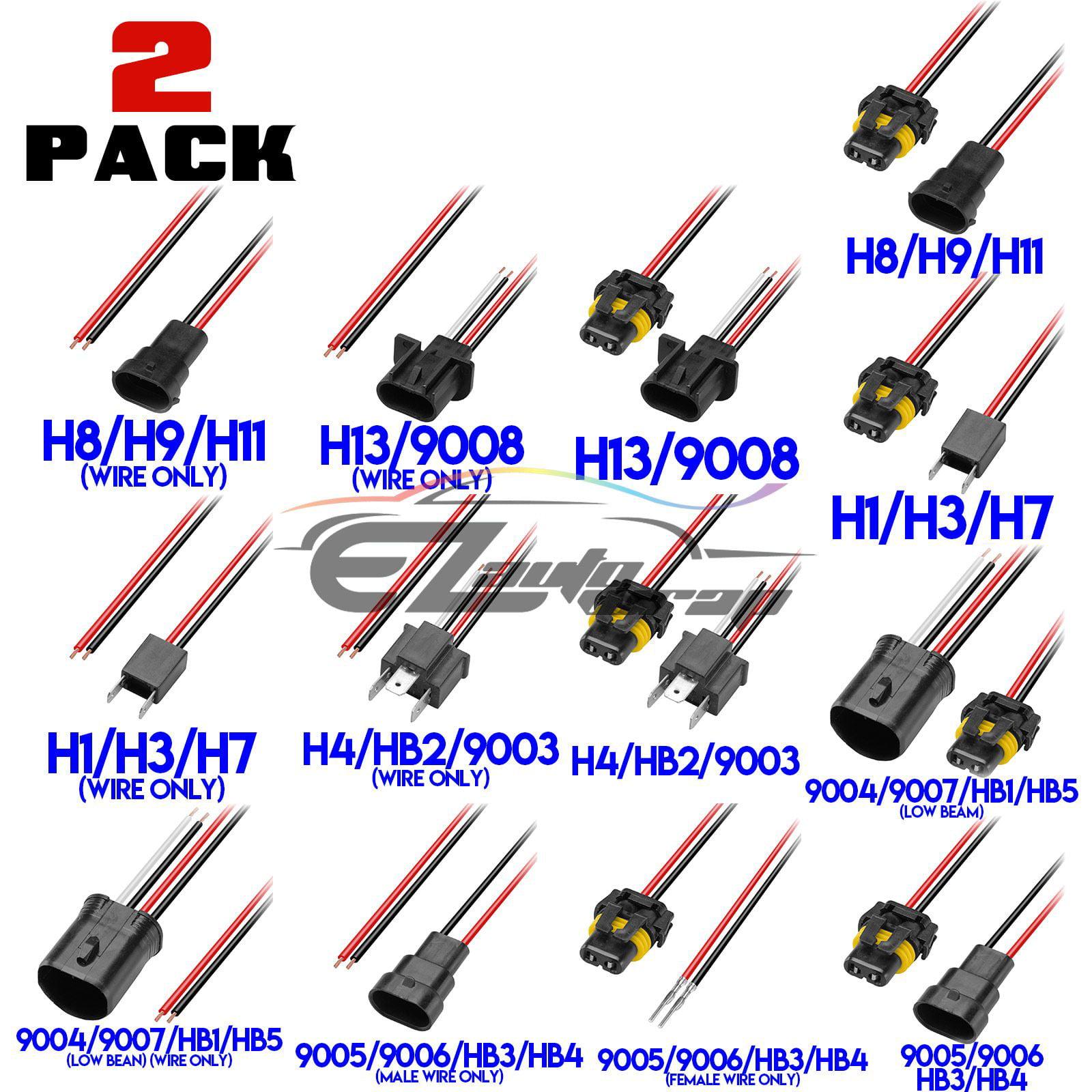 2pcs Air Pump Extension Cord Premium Extension Cable for Car