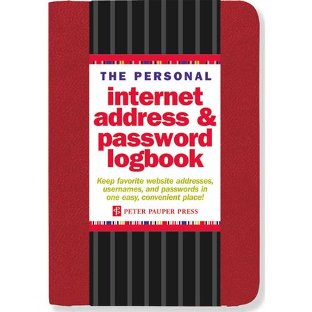The Personal Internet Address   Password Logbook   Red