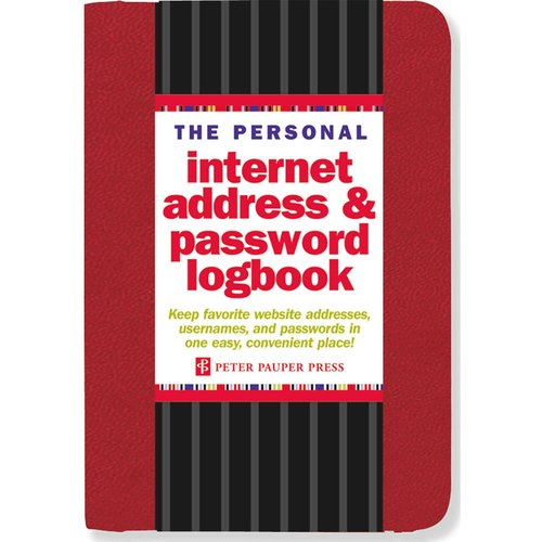 The Personal Internet Address & Password Logbook - Red
