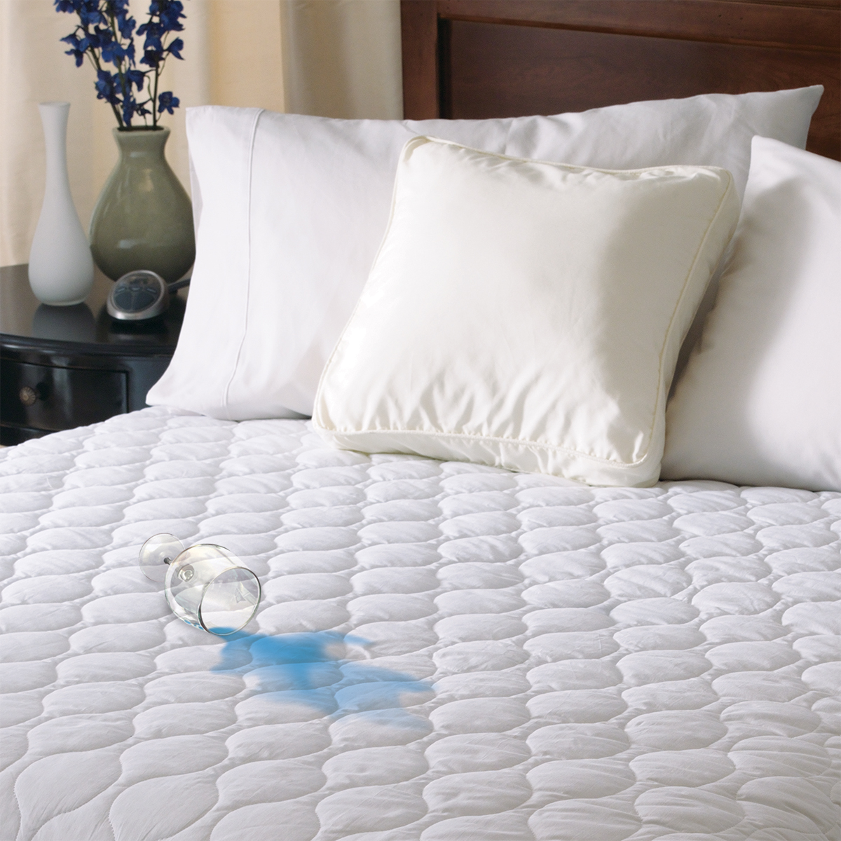 Sunbeam Water-Resistant Heated Mattress Pad with 20 Heat Settings & Timer, Multiple Sizes (MSU6STST00012A4)