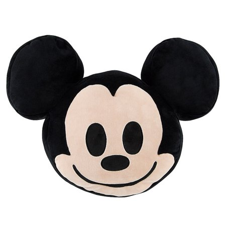 Disney Mickey Mouse Emoji 10'' Smiling Expressions Pillow Plush New With  Tags