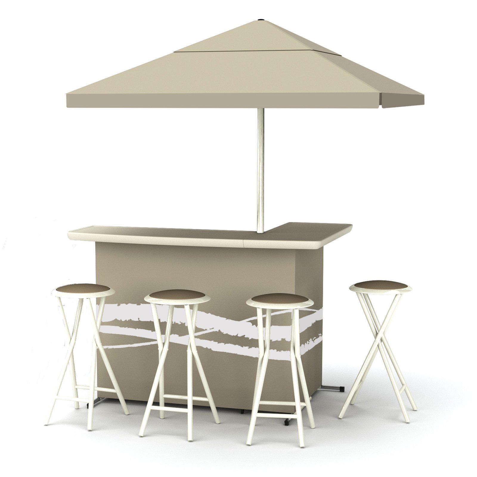 Best of Times Indoor/Outdoor Portable Bar with 4 Barstools