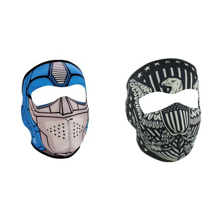 Zan Headgear Value Bundle Consisting Of 1 Zanheadgear Guardian  Child   Kid Sized  Full Face Neoprene Face Mask  And  1 Zan Vintage American Eagle Full Face Neoprene Face Mask  Ski Mask