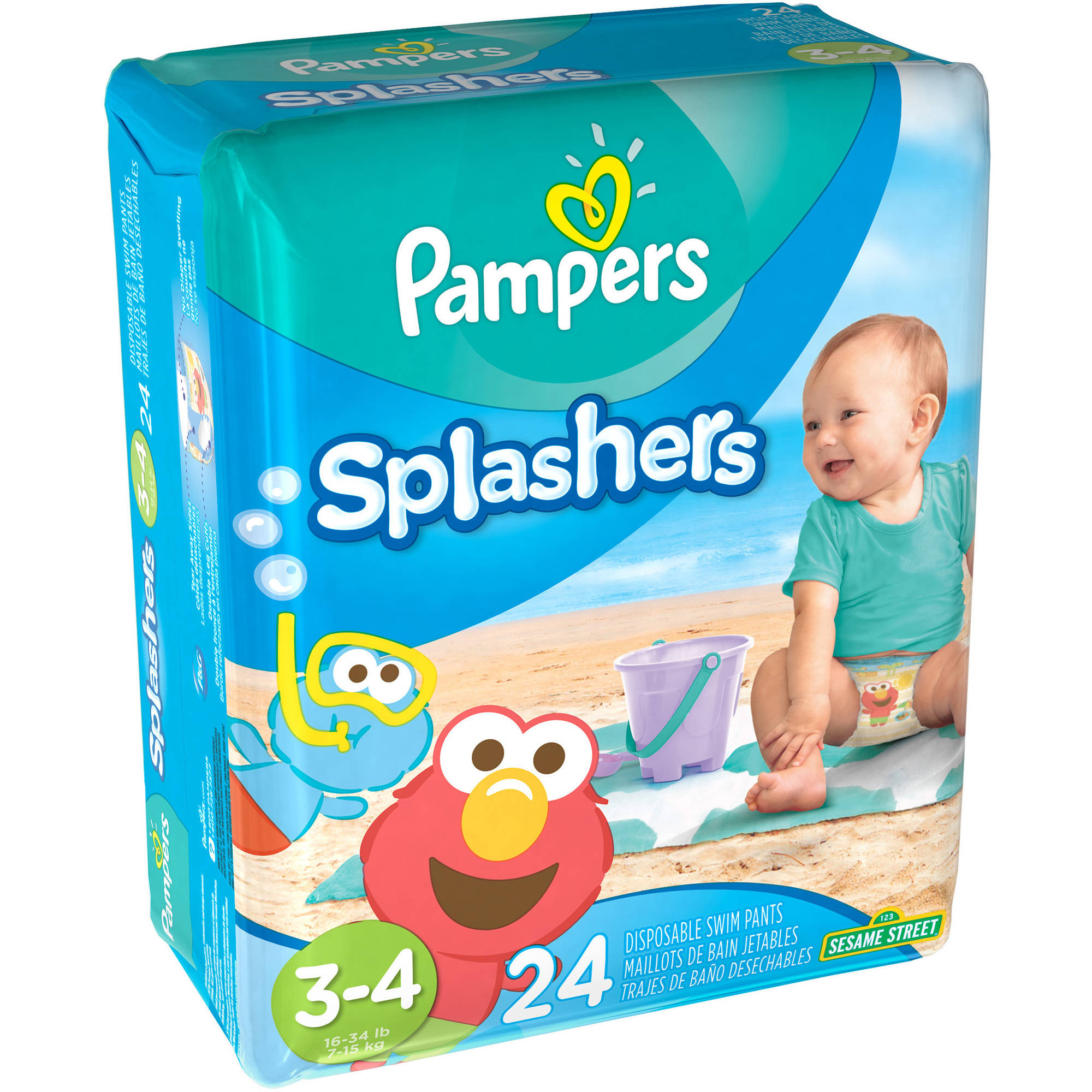 Pampers Splashers Disposable Swim Pants, (Choose Your Size)