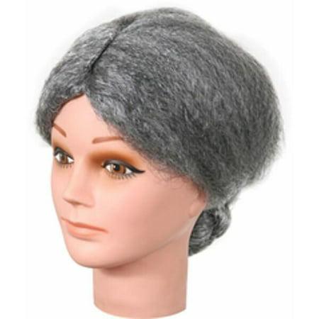 Old Lady Grey Bun Wig](Old Lady Wig)