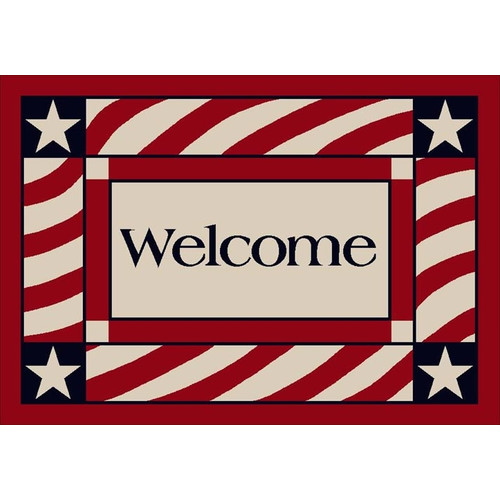Milliken Summer Seasonal Patriotic Welcome America Doormat
