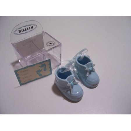 Personalized Porcelain Boy Baby Booties - SEAN
