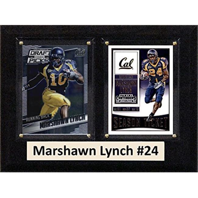 "C & I Collectables NCAA 6"" x 8"" Marshawn Lynch California Golden Bears 2 Card Plaque"