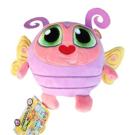 Crunchimals 6 inch Bibi Crunch (Butterfly) crunchable Stuffed Animals Plush Snuggle Buddy Cuddly Soft Toy Dolls Gift Series (Butterfly Buddy)