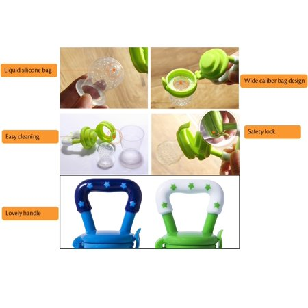 Jeobest 1PC Baby Fruit Feeder Pacifier - Fresh Food Nibbler, Infant Fruit Teething Toy, Silicone Pouches for Toddlers (Color random)