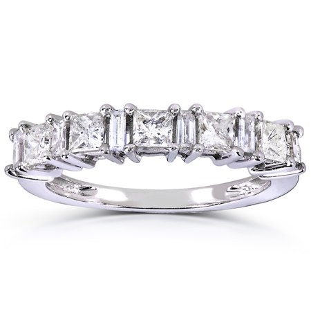 Signature Baguette (Princess-cut and Baguette Diamond Band 3/4 Carat (ctw) in 14k White Gold )