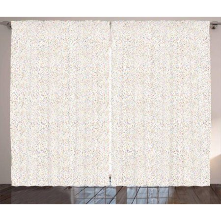 Colorful curtains 2 panels set dotted pattern with - Off white curtains for living room ...