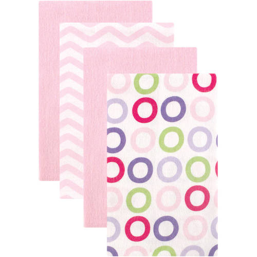 Luvable Friends Flannel Burp Cloths, 4pk, Choose Your Color