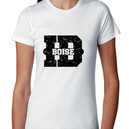 Boise  Idaho Id Classic City State Sign Womens Cotton T Shirt