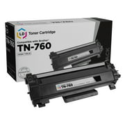 LD Compatible Toner Cartridge Replacement for TN760 High Yield (Black)