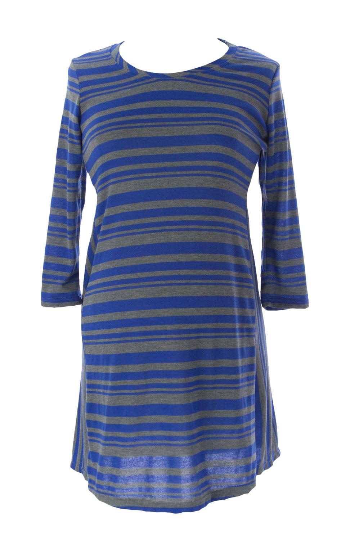 JULES & JIM Maternity Women's Striped Sweater Dress Medium Blue Grey by H15823