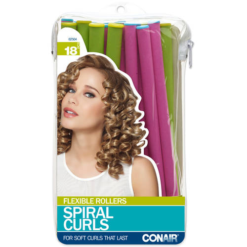 Conair Spiral Curlers, 18 count