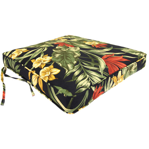 Jordan Manufacturing Outdoor Patio Floral Seat Pad