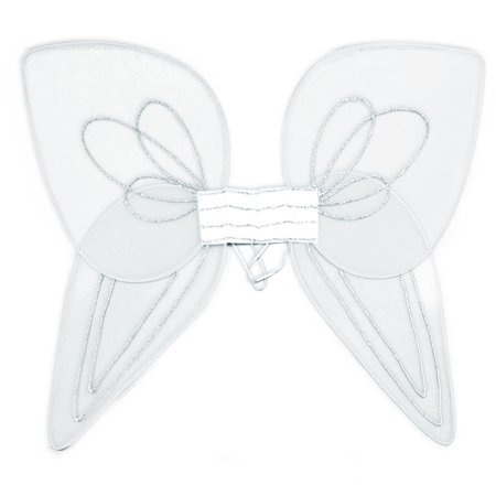 Loftus Adult Minimalist Costume Angel Wings, White, Large (36