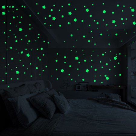 3D Stars Glow In The Dark Luminous Fluorescent Wall Stickers Room Decors](Glow In The Dark Decorations For Room)
