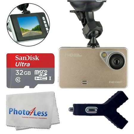 Dashboard DVR Cam Vehicle HD 1080P 170 Degree Ultra Wide Angle Lens G-Sensor Black Box Driving - 2.6