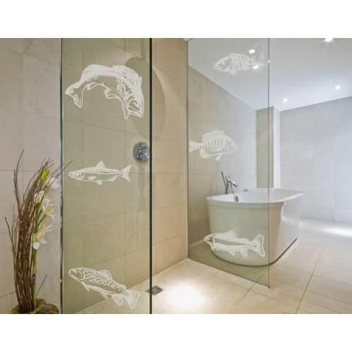 Style and Apply Fish Set Window Glass Decal Vinyl Wall Art Home Decor