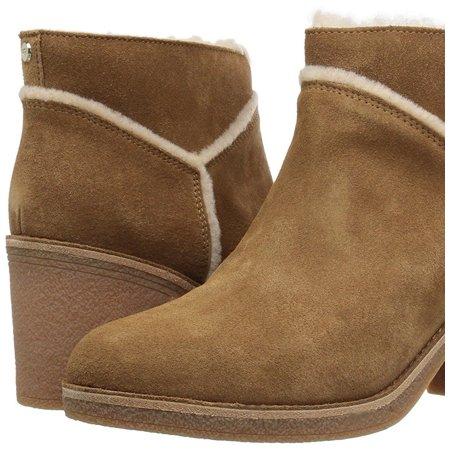- UGG Kasen Women's Shoes Suede Block Heel Ankle Booties 1018644 Chestnut