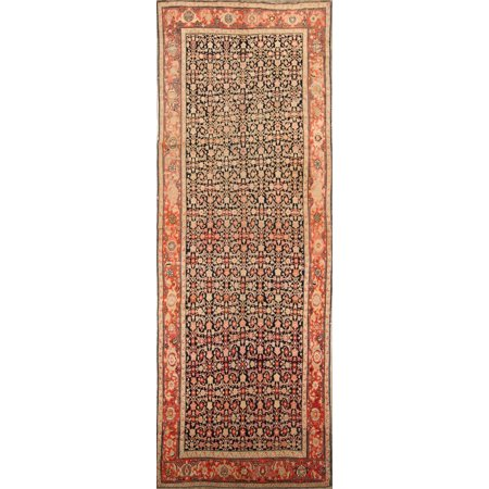 Traditional Antique Vegetable Dye 7x18 Hand Knotted Oriental Area Rug