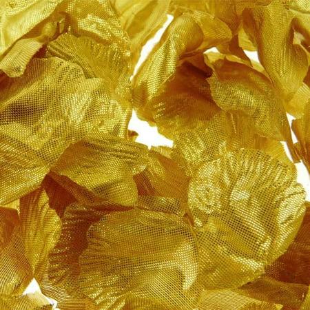 Solid Faux Rose Petals Table Confetti, 400-Piece, Metallic Gold
