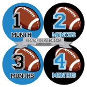 Months in Motion 1005 Monthly Baby Stickers Football Baby Boy Month 1-12 Milestone Age Sticker Photo Prop
