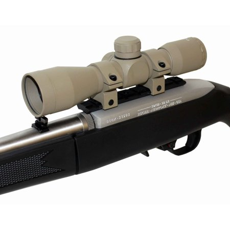 TAN Ruger 10/22 Combo TRINITY 4x32 Riflescope With 1022 Scope Mount And