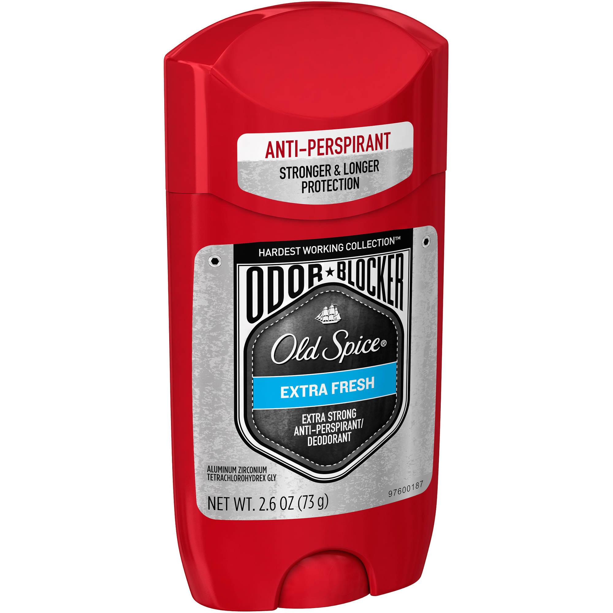 Old Spice Odor Blocker Extra Fresh Extra Strong Anti-Perspirant/Deodorant, 2.6 oz