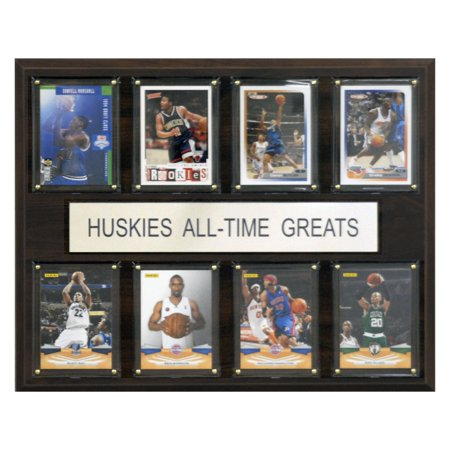 C&I Collectables NCAA Basketball 12x15 Connecticut Huskies All-Time Greats Plaque ()