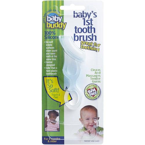 Baby Buddy Baby/'s 1st Toothbrush 1ct Green