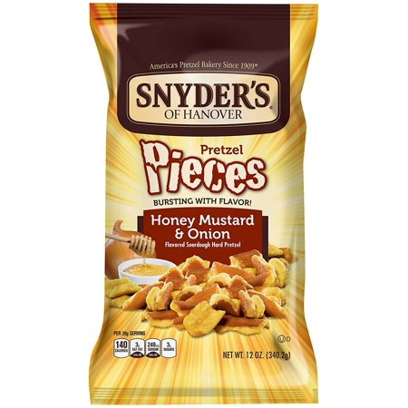 ((3 Pack) Snyder's of Hanover Pretzel Pieces, Honey Mustard & Onion, 12 Oz)