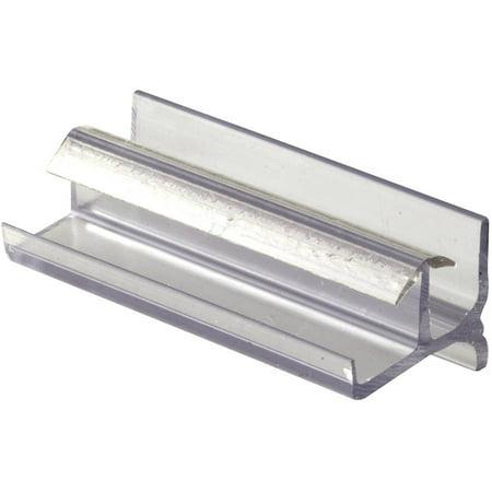 Prime Line M6144 3u0022 Clear Vinyl Frameless Shower Door Buttom Guide