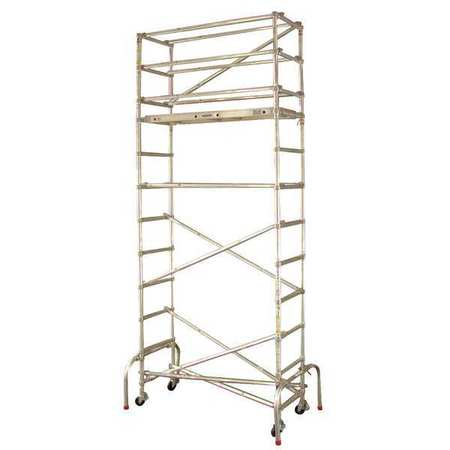 WERNER GW402 Scaffold Tower,18-1 2 ft. H,Aluminum G3335370 by Werner