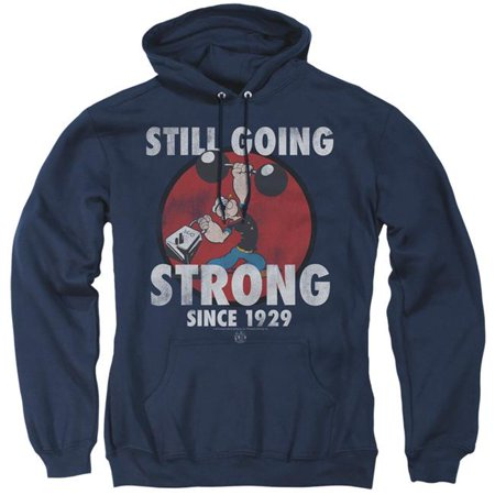 Trevco Sportswear PYE790-AFTH-4 Popeye & Still Going Strong-Adult Pull-Over Hoodie, Navy - Extra Large ()
