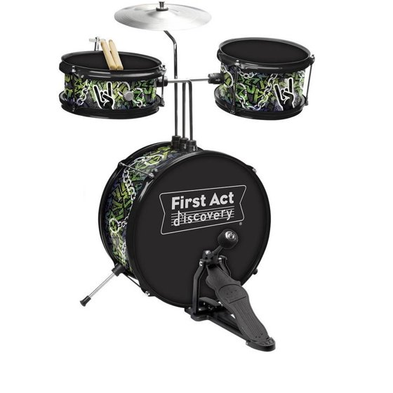 First Act Discovery Rock N Roll Designer Drum Set FD3718 - Walmart.com