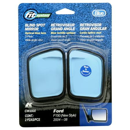 CW2000 - Fit System Ford F-150 Custom Spot Mirror, 04 - 08 2 Pack, Optical Blue Lens Custom Fit Spot - Custom Fit Mirror