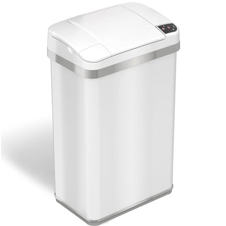 - iTouchless Housewares & Products, Inc. iTouchless 4 Gallon Multifunction Sensor Trash Can Matte Finish Pearl White