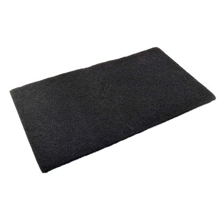 """HQRP Activated Carbon Filter Media Pad 18x10"""" for Deep Blue Professional ADB41002 Carbon Pad Replacement (Cut to fit) + HQRP Coaster"""