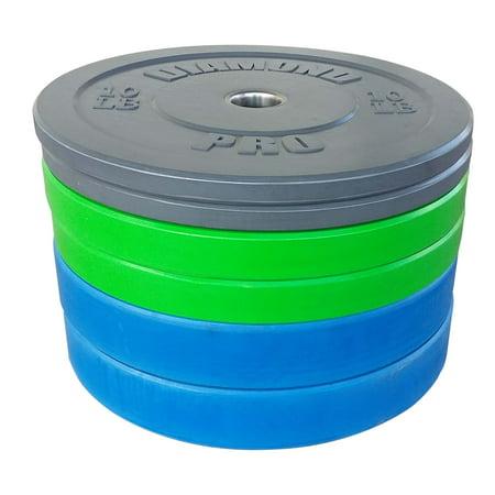 Diamond Pro 160 lb Color Bumper Plate Set