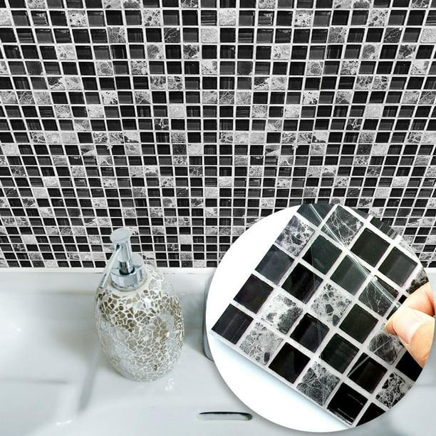 Cuh 10pcs Mosaic Pattern Waterproof Wall Tile Stickers Peel And Stick Tile Kitchen Backsplash Wallpaper Sticker 15x15cm 20x20cm Walmart Com Walmart Com